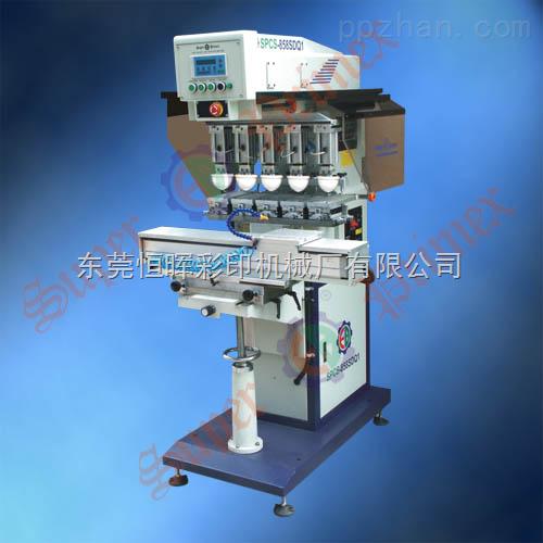 恒晖供应高端印刷要求SPCS-858SDQ1 独立印头伺服穿梭五色油盅移印机
